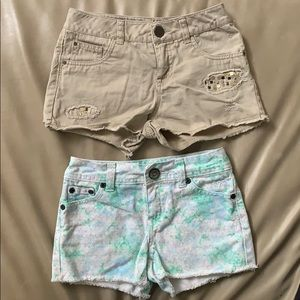 Justice Shorts Bundle of 2 Size 8